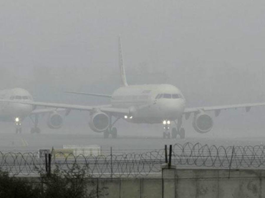Shadow Dense Fog In Delhi 2 Hour Delayed Aircraft
