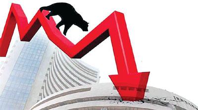 Heavy fall in stock market - Sachi Shiksha News