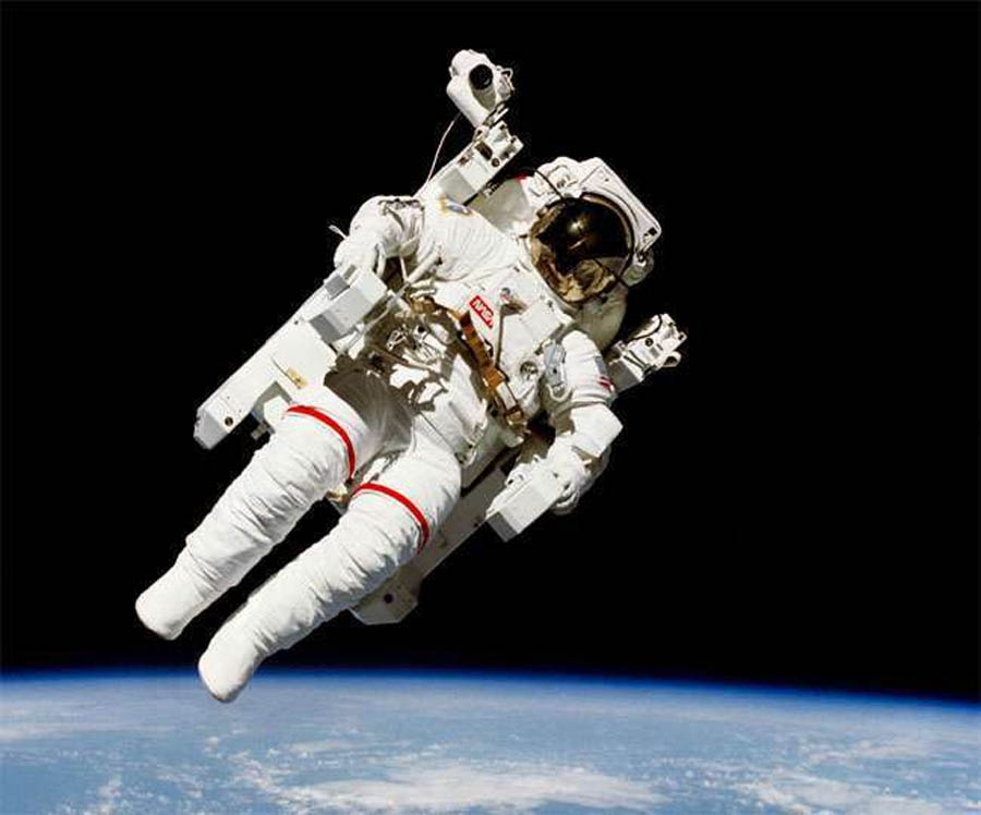 First Jump in Space