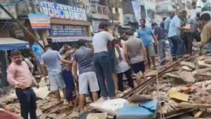 Building Collapsed in Delhi