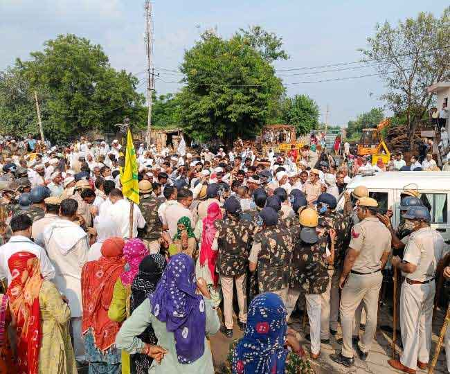 Farmers surrounded BJP office sachkahoon