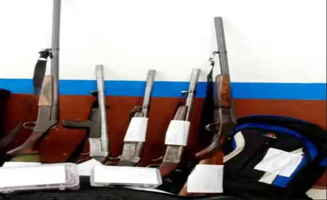 Weapons in Telangana Express