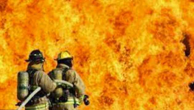 Fire in CCI's godown sachkahoon